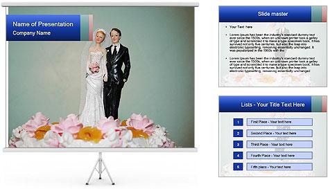 A wedding cake PowerPoint Template