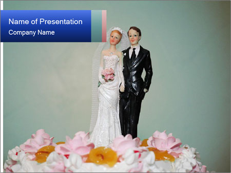 A wedding cake PowerPoint Templates