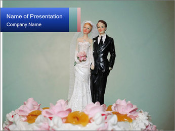 A wedding cake PowerPoint Template