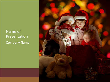 Christmas family PowerPoint Template