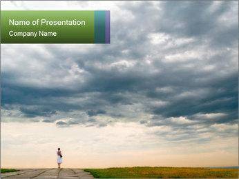 Cloudy sky PowerPoint Template - Slide 1