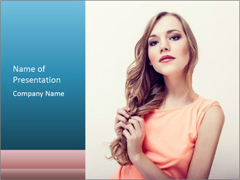 Sensuality beautiful blond PowerPoint Template - Slide 1