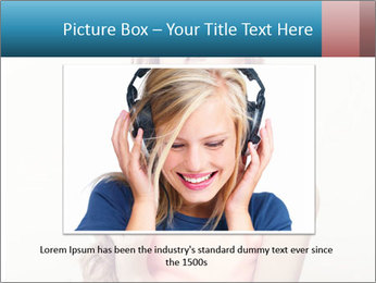 Sensuality beautiful blond PowerPoint Template - Slide 16