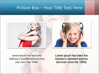 Sensuality beautiful blond PowerPoint Template - Slide 18