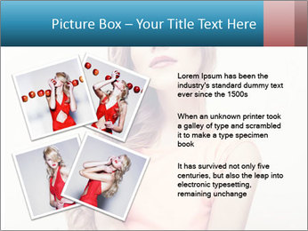 Sensuality beautiful blond PowerPoint Template - Slide 23