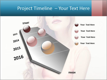 Sensuality beautiful blond PowerPoint Template - Slide 26