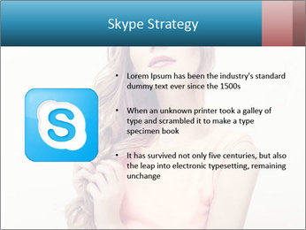 Sensuality beautiful blond PowerPoint Template - Slide 8