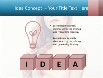 Sensuality beautiful blond PowerPoint Template - Slide 80