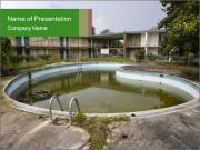 Motel pool. PowerPoint Template