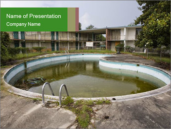 Motel pool. PowerPoint Templates - Slide 1