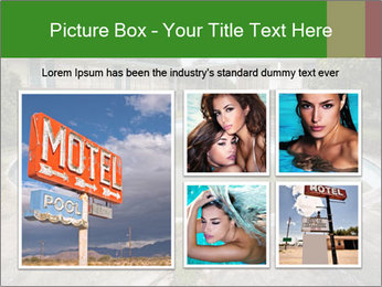Motel pool. PowerPoint Templates - Slide 19