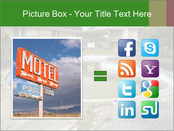 Motel pool. PowerPoint Templates - Slide 21