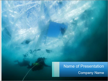 Ice PowerPoint Template - Slide 1