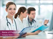 Group of medical students PowerPoint Templates