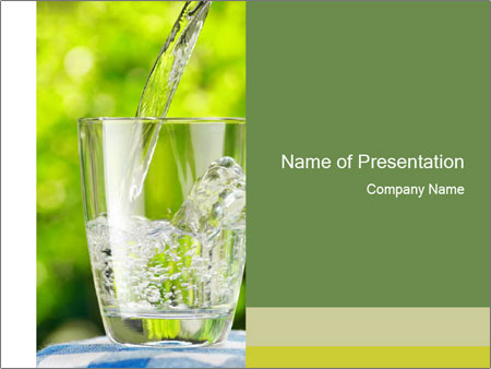 Glass of water PowerPoint Templates