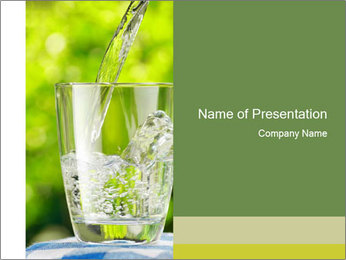 Glass of water PowerPoint Templates - Slide 1