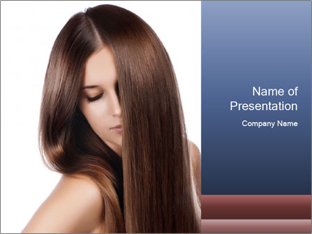 Elegant long shiny hair PowerPoint Template