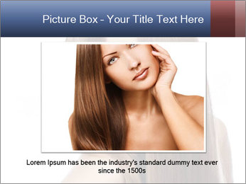 Elegant long shiny hair PowerPoint Template - Slide 15