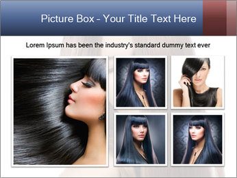 Elegant long shiny hair PowerPoint Template - Slide 19
