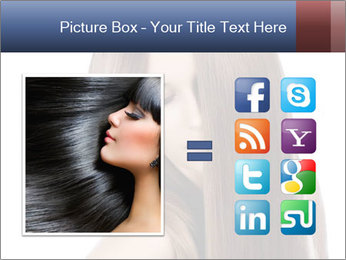 Elegant long shiny hair PowerPoint Template - Slide 21