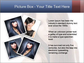 Elegant long shiny hair PowerPoint Template - Slide 23
