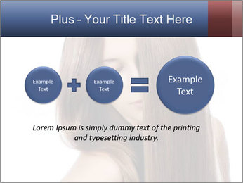 Elegant long shiny hair PowerPoint Template - Slide 75