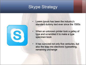 Elegant long shiny hair PowerPoint Template - Slide 8