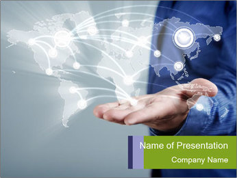 Hand pressing PowerPoint Templates - Slide 1
