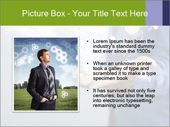 Hand pressing PowerPoint Templates - Slide 13