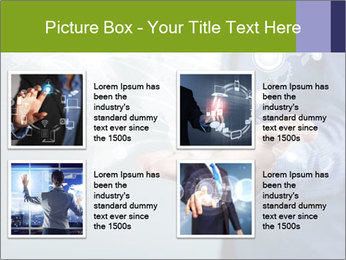 Hand pressing PowerPoint Templates - Slide 14