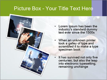 Hand pressing PowerPoint Templates - Slide 17