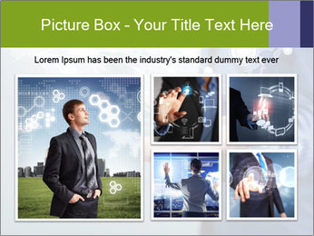 Hand pressing PowerPoint Templates - Slide 19