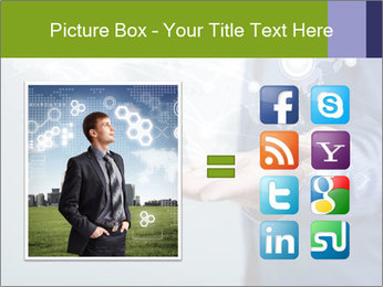Hand pressing PowerPoint Templates - Slide 21