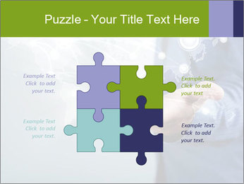 Hand pressing PowerPoint Templates - Slide 43