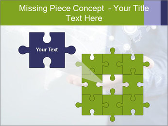 Hand pressing PowerPoint Templates - Slide 45