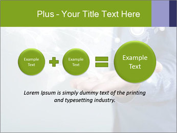 Hand pressing PowerPoint Templates - Slide 75