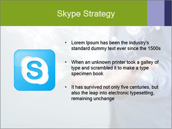 Hand pressing PowerPoint Templates - Slide 8