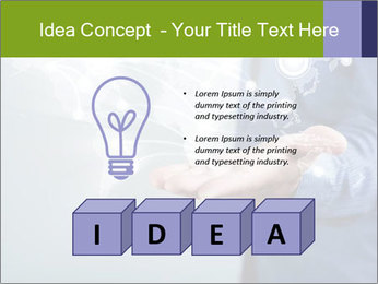 Hand pressing PowerPoint Templates - Slide 80