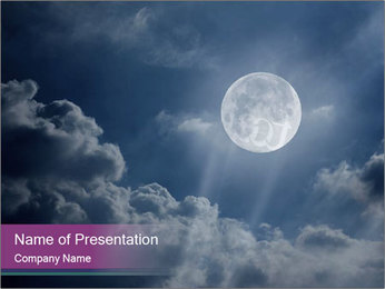 Night sky PowerPoint Templates - Slide 1