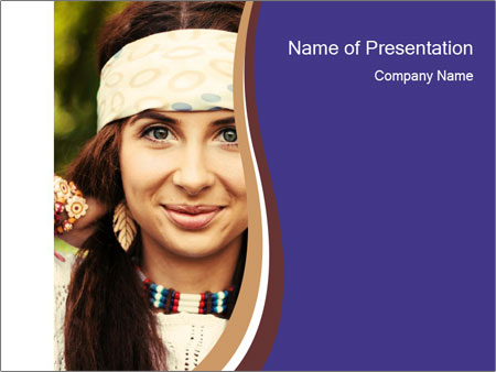 Smiling beautiful girl PowerPoint Template