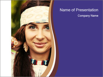 Smiling beautiful girl PowerPoint Template - Slide 1