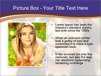 Smiling beautiful girl PowerPoint Template - Slide 13
