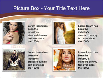 Smiling beautiful girl PowerPoint Template - Slide 14