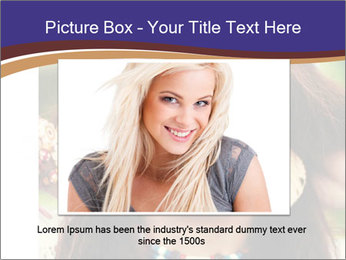 Smiling beautiful girl PowerPoint Template - Slide 16