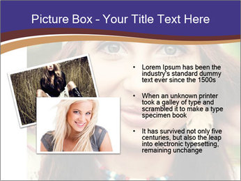 Smiling beautiful girl PowerPoint Template - Slide 20