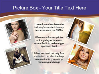 Smiling beautiful girl PowerPoint Template - Slide 24