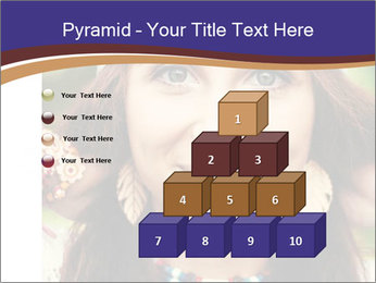 Smiling beautiful girl PowerPoint Template - Slide 31