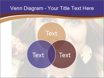 Smiling beautiful girl PowerPoint Template - Slide 33