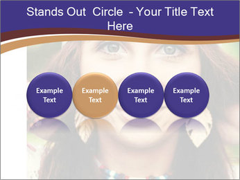 Smiling beautiful girl PowerPoint Template - Slide 76