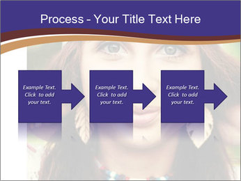 Smiling beautiful girl PowerPoint Template - Slide 88